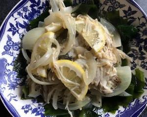 白身魚のレモン蒸し🍋