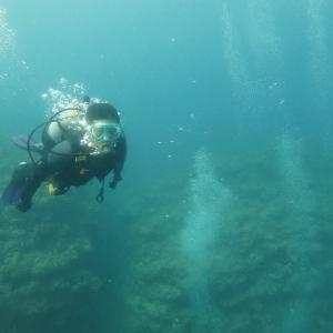 残波岬で体験ダイビング