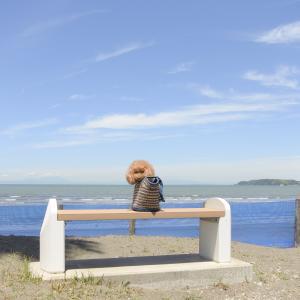 館山の海をbackに♪