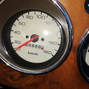 走行距離66,666.6km オイル交換