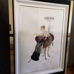 一目惚れアート、エルテのシルクスクリーン。