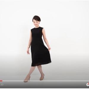 リネン風サマードレス、動いている感じを見ていただく動画を作りました。