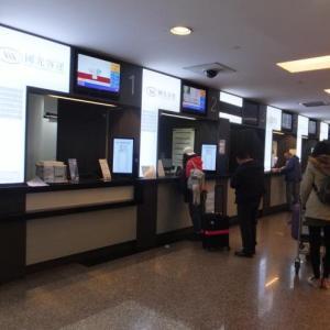 深夜の桃園空港から國光バス「1819」で台北駅へ