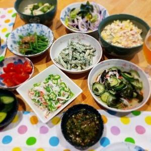 夏野菜の食卓