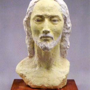 【彫刻家】「キリスト・再び」【現代日本彫刻家】大河原隆則