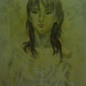 【彫刻家 絵画】「雨に濡れた女」【テンペラ画】