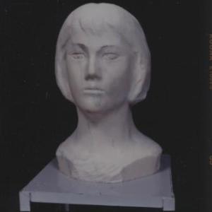 【日本 彫刻家】「しのぶ」【大理石彫刻】
