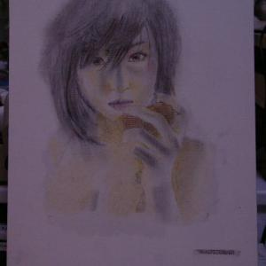 【デッサン・絵画】「パンを食む女」【テンペラ画】