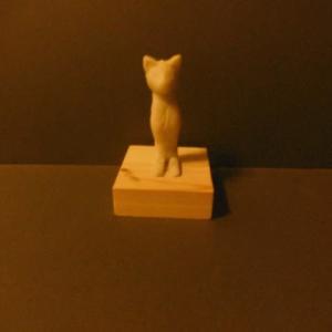 【現代彫刻家】「ニャンタロス(仔)」【樹脂粘土】