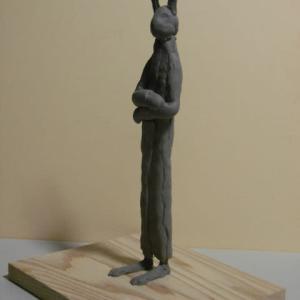 【日本 彫刻家】「ウサギ人Ⅱ」【スカルピー】