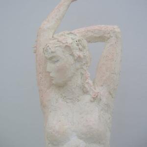 【現代彫刻家】大河原隆則の表現【現代彫刻家】「桜EX・・月の女・部分」