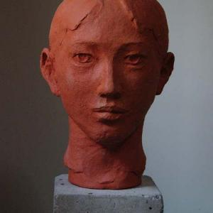 【現代彫刻家】「少年の首」【テラコッタ】
