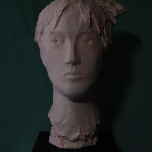 【現代彫刻家】「少女の首」【石膏直付け】