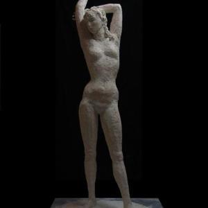 【彫刻家】大河原隆則「桜:EX・・・月の女」・・・貧乏彫刻家です。