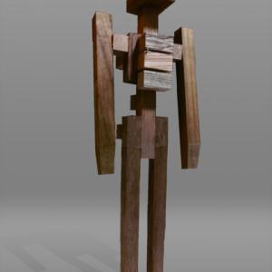 【彫刻家】大河原隆則「警護する者no,7」