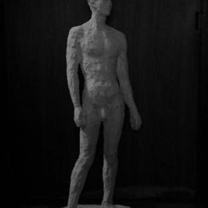【日本 彫刻家】【大河原隆則】「流れ」モノトーン