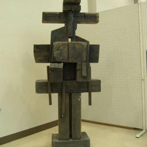 【現代彫刻】「警護する者」