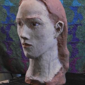 【彩色テラコッタ彫刻】「マグダラのマリア」