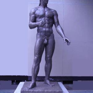 【中堅彫刻家】「闘う人:証」大河原隆則