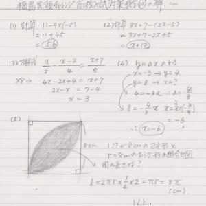 数学⑫の解答