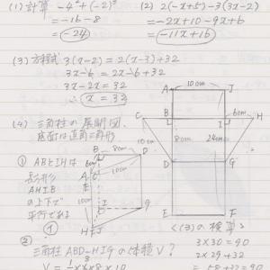 数学⑬の解答