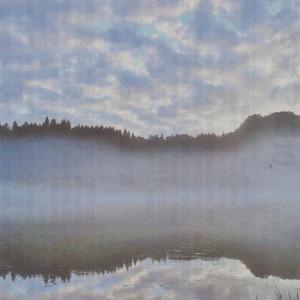 只見川の夕霧