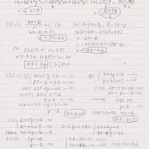 中1数学⑩の問題解答