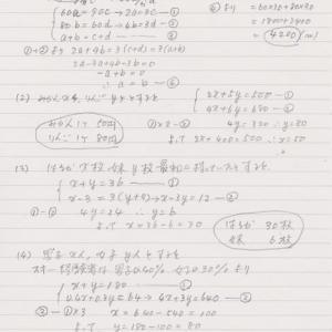 中1数学⑪の解答