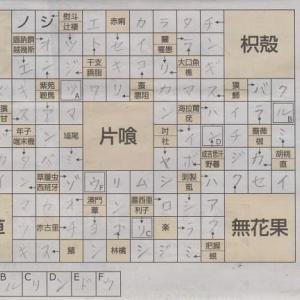 夏から秋へ植物漢字アロー解答