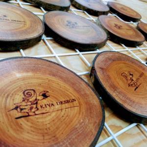 【木の輪切りコースターのオーダー・納品】