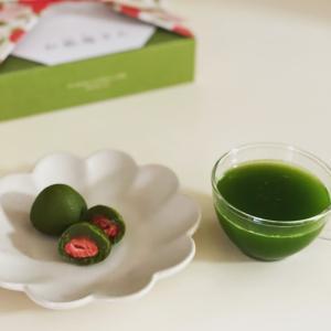 宇治抹茶のグリーンですっきり 頂きもの