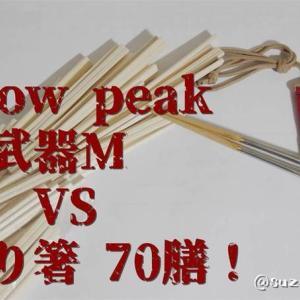 箸対決!!スノーピークの高級箸「和武器M」VSダイソー「割り箸」どっちが勝つか!?