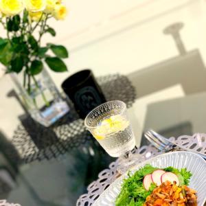 わさび菜とパクチーの簡単サラダ