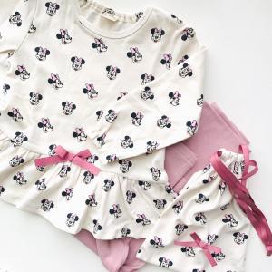 ミニーちゃんの巾着付パジャマ