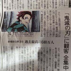 【朗報】中日大本営さんの一面、鬼滅の刃が飾る