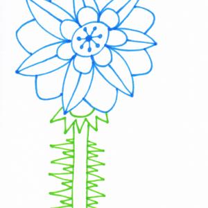 スタンプインクと花