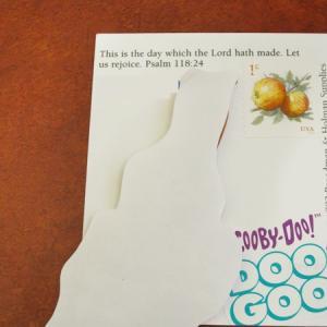 切手のボーダーを使ったデコ:犬と犬
