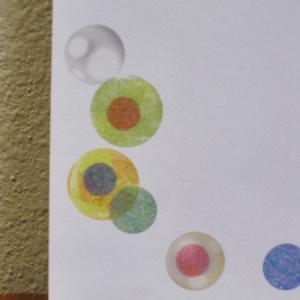 マーカーの塗り跡を消すデコと Celebrate 切手に合わせたデコ