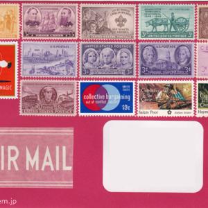 赤封筒に貼った宛名シールと飾り付け★郵便デコ(2019) ♯52