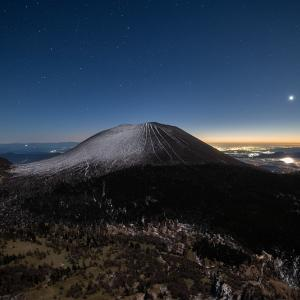 金星と浅間山
