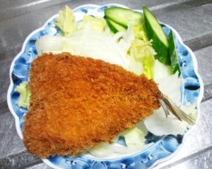 蕎麦とアジフライ