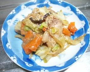豚肉入り野菜炒めの日