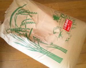 いつもの農家さんから玄米を買いました。