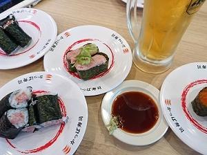 カッパ寿司で昼呑み