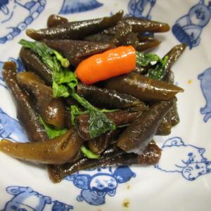海茸(海筍)のバジル風味炊き