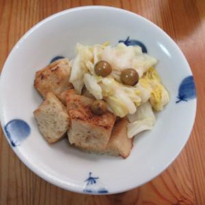 冷凍白菜と烤麩の樹子炊き