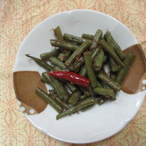 泡菜インゲンの甘酢炊き
