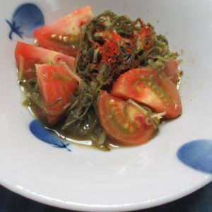 めひびとトマトの甘酢炊き