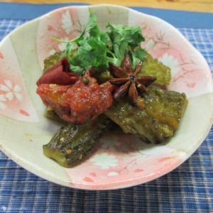 苦瓜とトマトの香り炊き