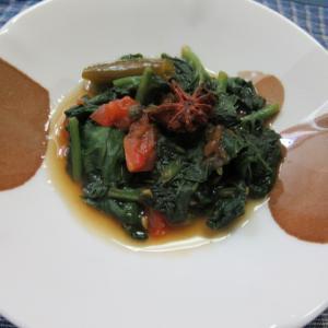 ツルムラサキのトマト八角炊き